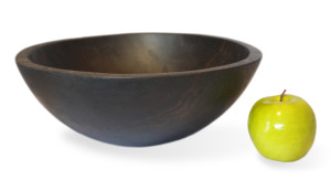 Ebonized Oak Round Bowl