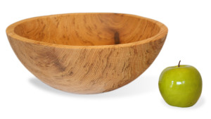 Natural Oak Round Bowl