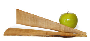 Wane Edge Maple Salad Servers